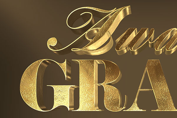 3D Gold Text Effect Vol-1 Free Download Text Style