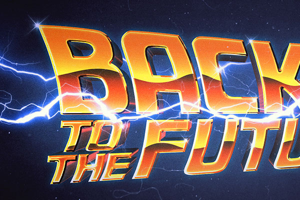 Back to the Future Text Effect Free Download Text Style