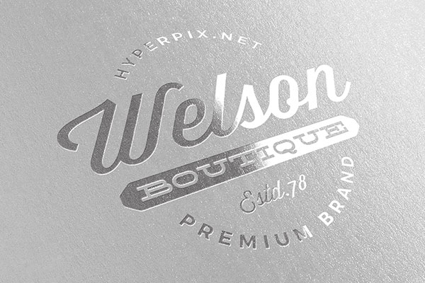 Metallic Silver Logo Mockup Free Download PSD
