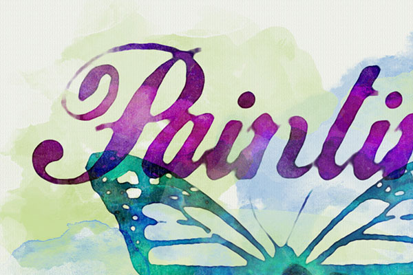 Watercolor Text Effect Free Download Text Style