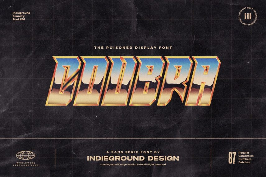 Coubra 80s Font