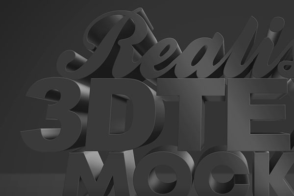 Dark 3D Text Effect Free Download Text Style