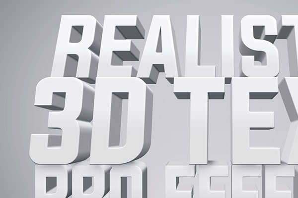 White 3D Text Effect Free Download Text Style