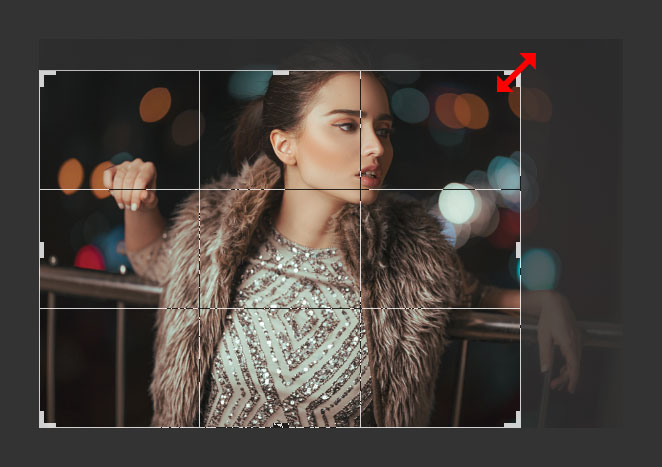 Resize Images Using the Crop Tool