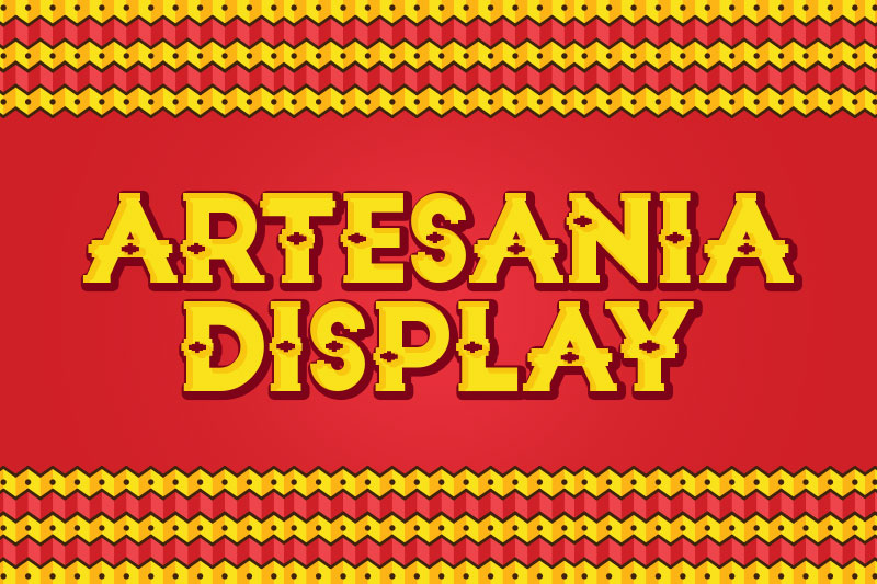 artesania display mexican font