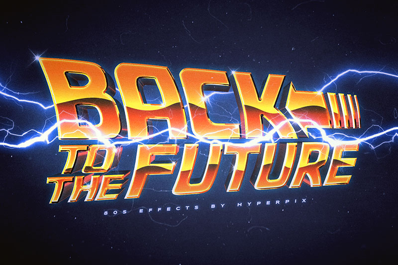 back to the future 2002 80s font