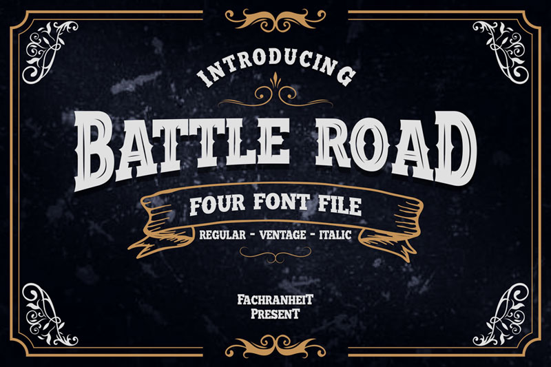 battle road western font