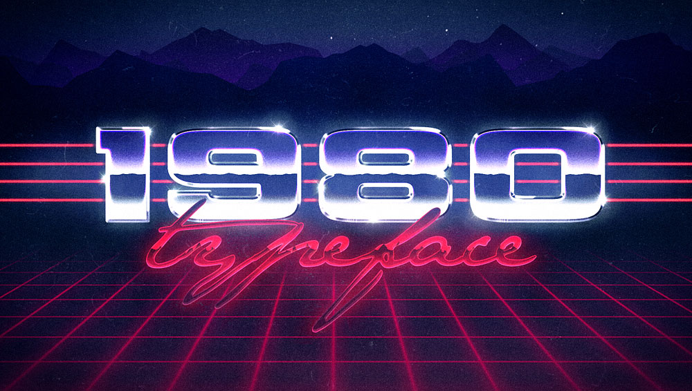 Best Free and Premium 80s Fonts