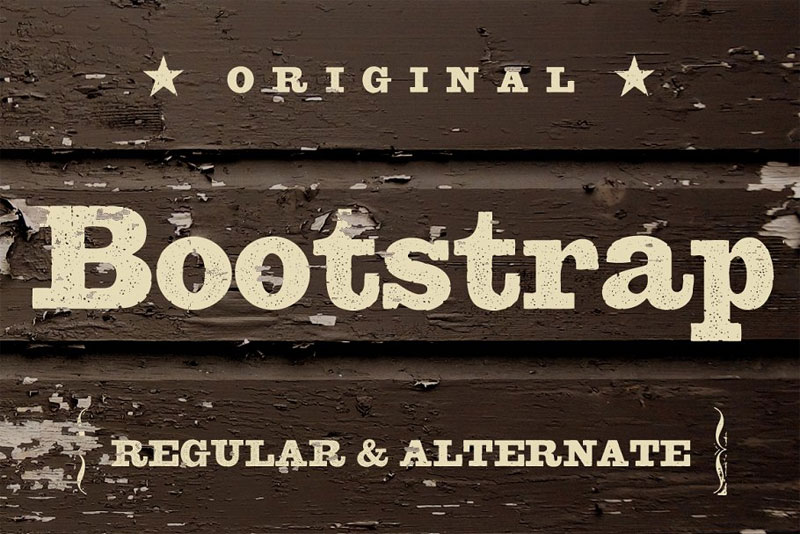bootstrap western font