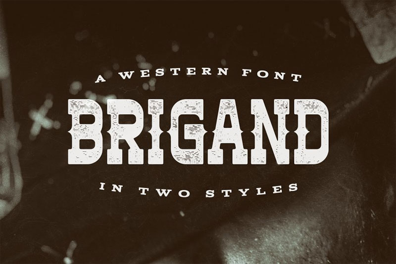 brigand typeface western font
