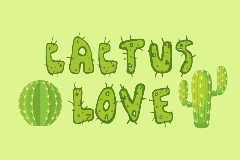 cactus love mexican font