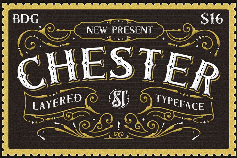 chester typeface western font