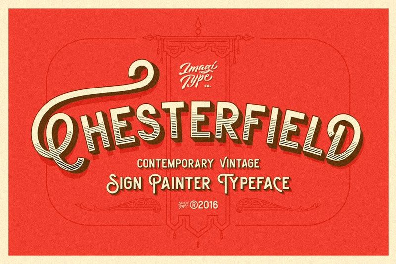 chesterfield typeface hawaiian font