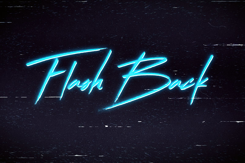 flash back vaporwave font