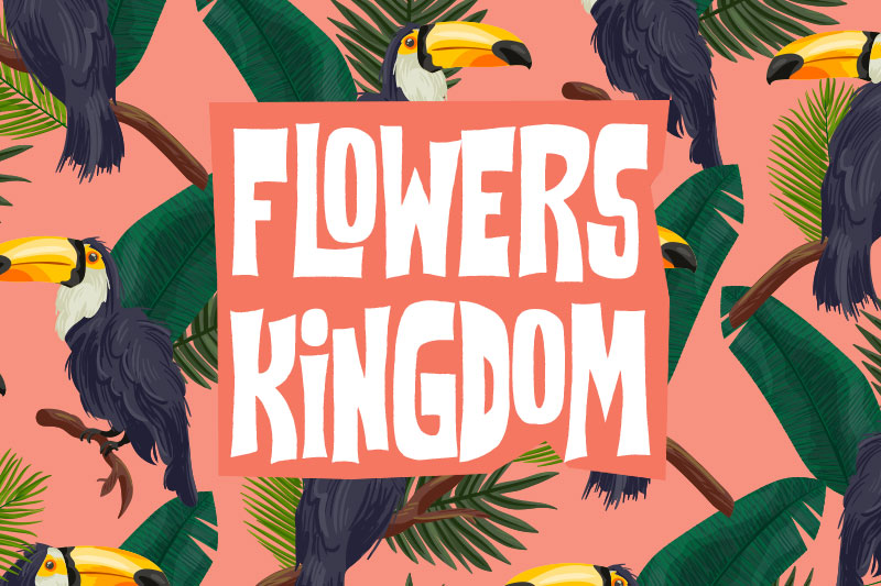 flowers kingdom hawaiian font
