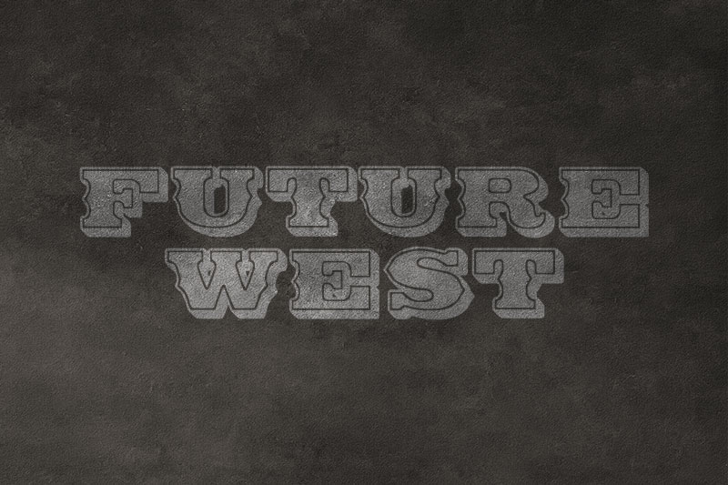 future west western font