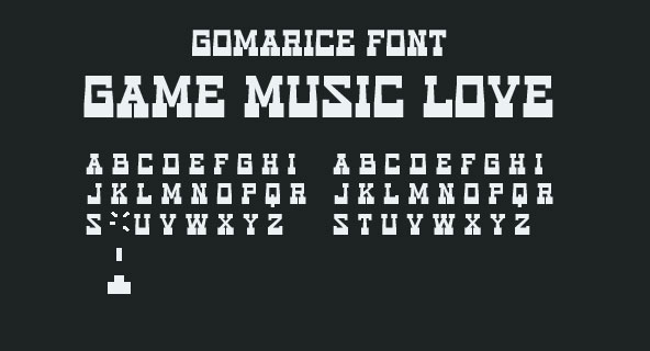 game music love western font