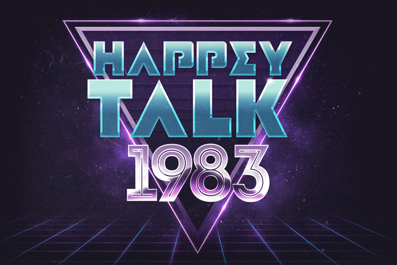 happy talk vaporwave font
