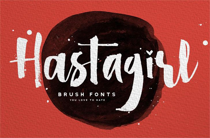 hastagirl one demo hawaiian font
