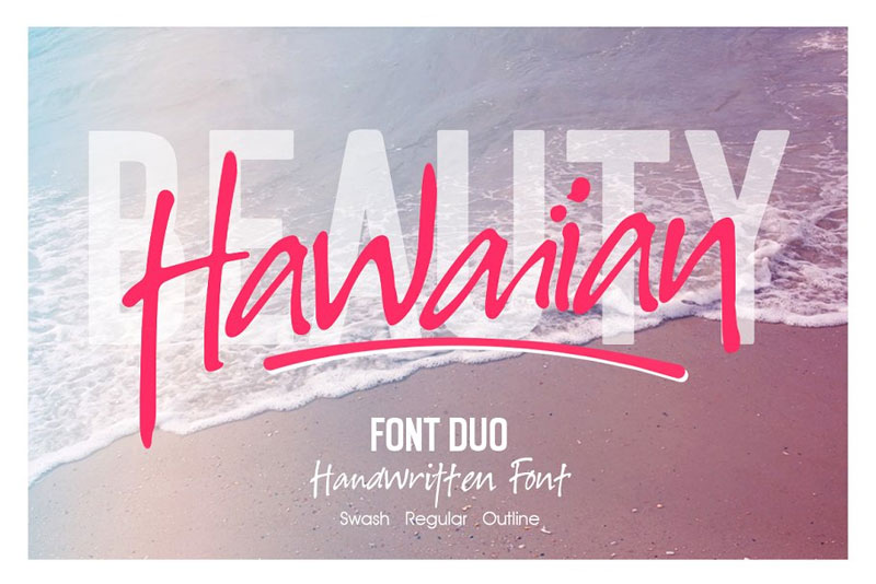hawaiian hawaiian font
