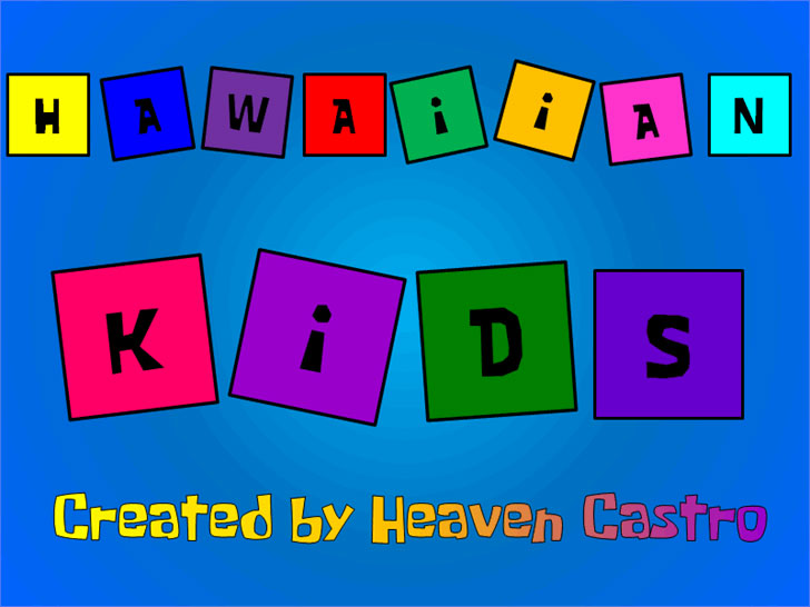 hawaiian kids hawaiian font