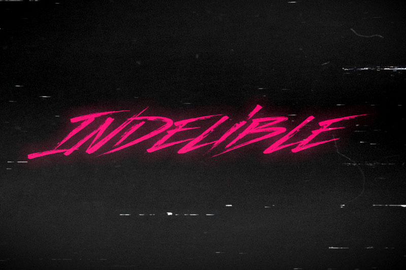 indelible 80s font
