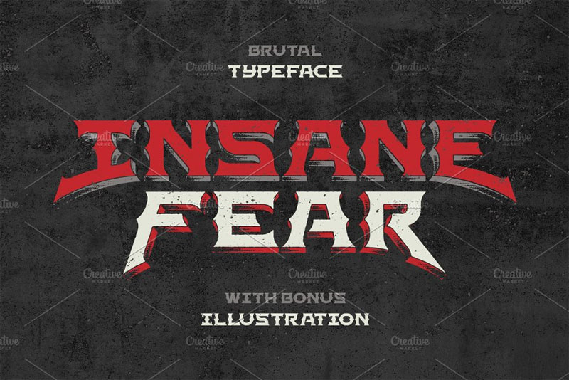 insane fear western font