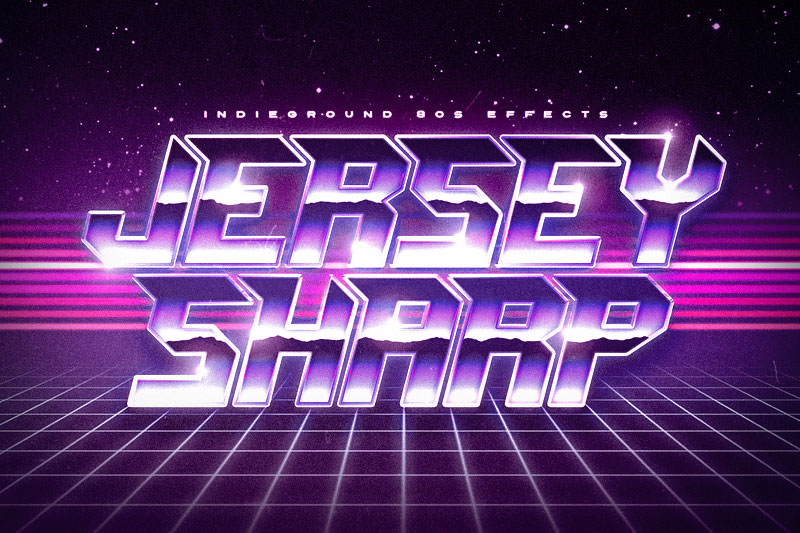jersey sharp 80s fonts