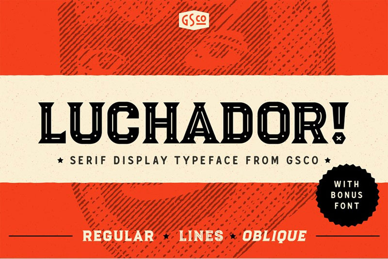 luchador mexican font