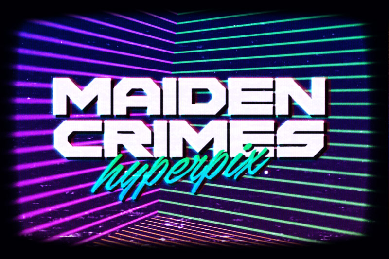 maiden crimes 80s fonts