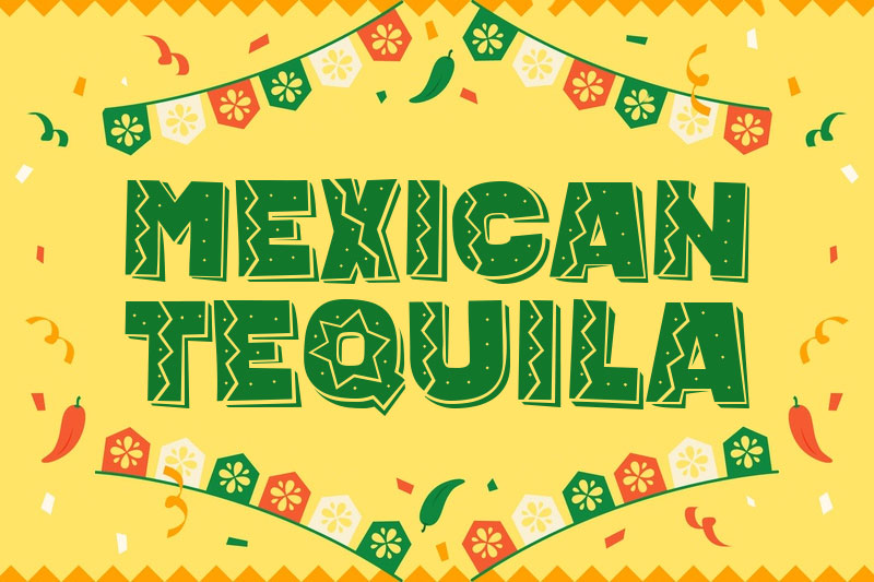 mexican tequila mexican font