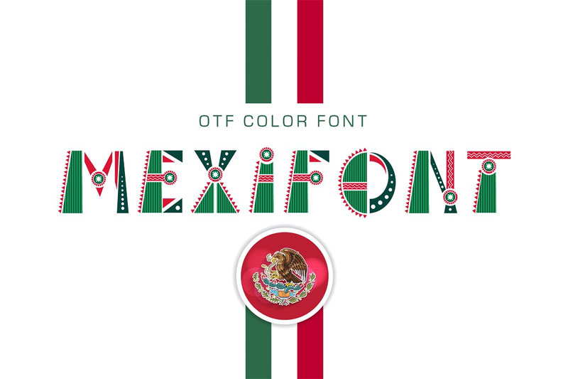 otf color mexican font