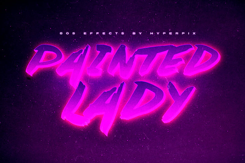 painted lady 80s font