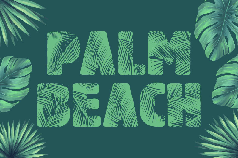 palm beach hawaiian font