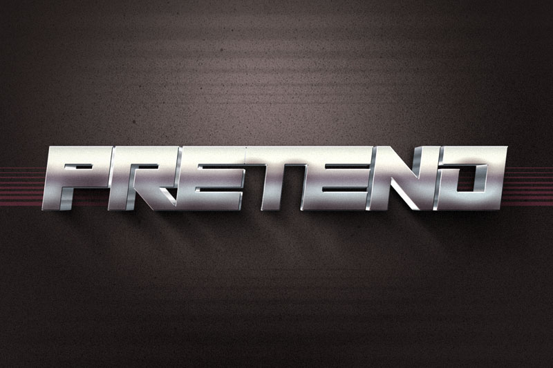 play pretend 80s font