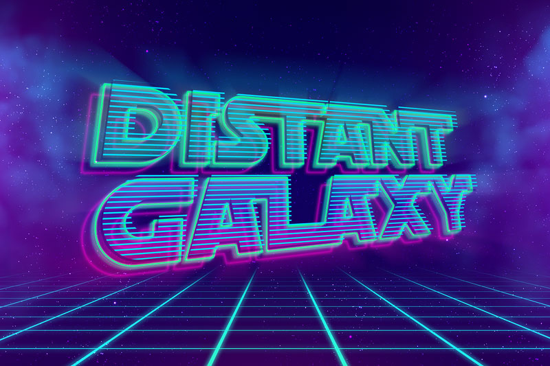 sf distant galaxy 80s font