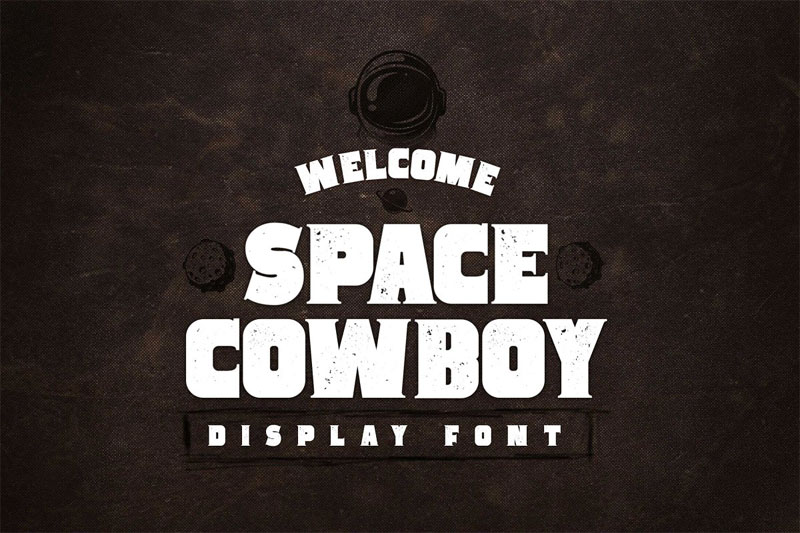 space cowboy serif aged and clean western font