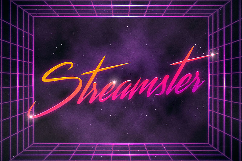 streamster 80s font