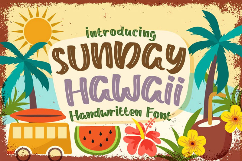 sunday hawaii hawaiian font