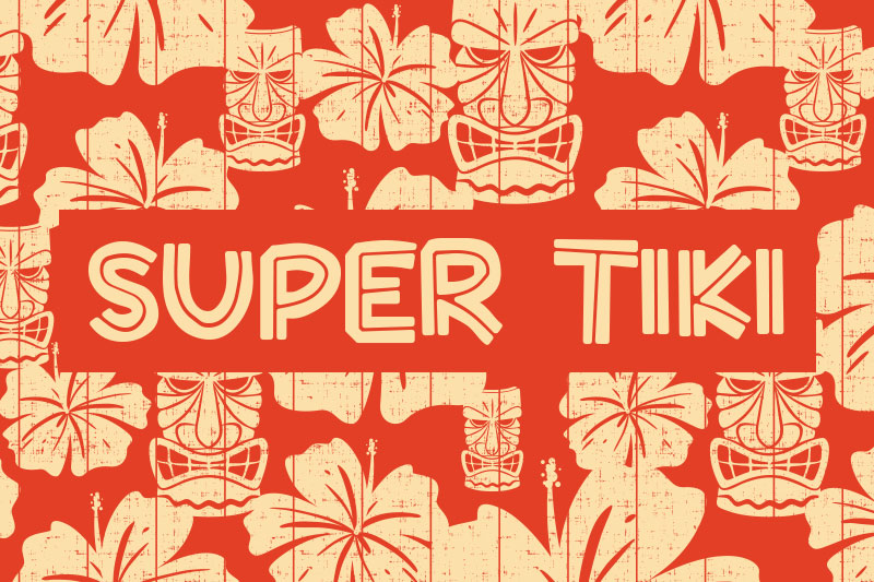 super tiki hawaiian font