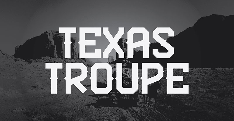 texas troupe fp western font
