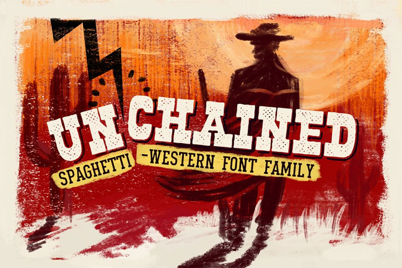 un'chained western font