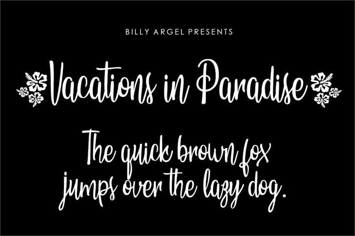 vacations in paradise personal hawaiian font