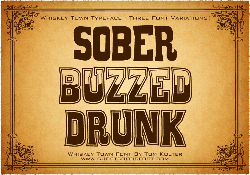 whiskey town western font