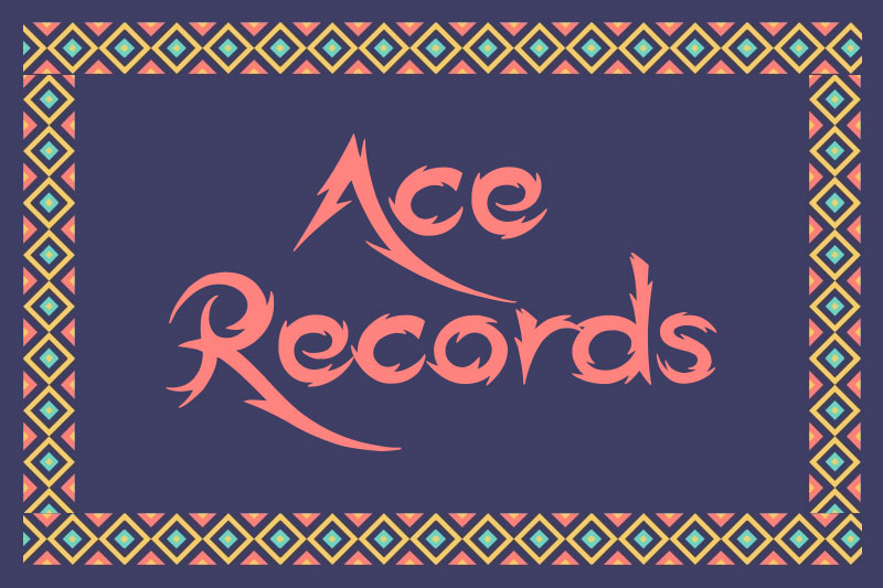ace records tribal font