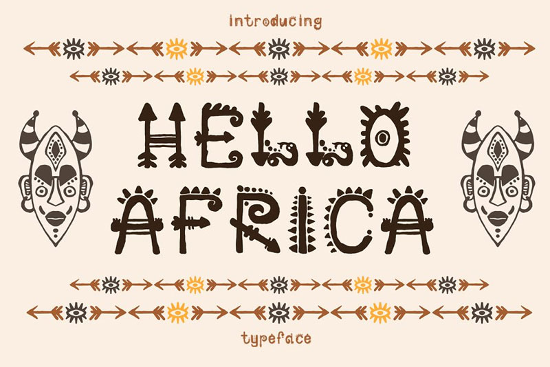 african tribal font