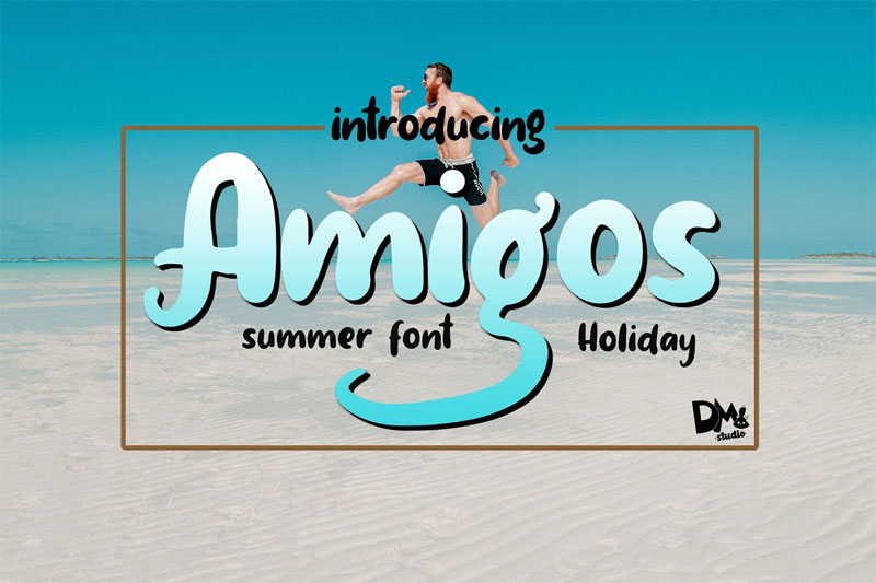 amigos summer and beach font