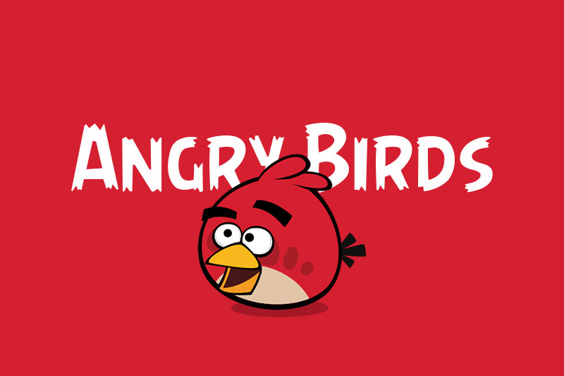 angry birds cartoon font