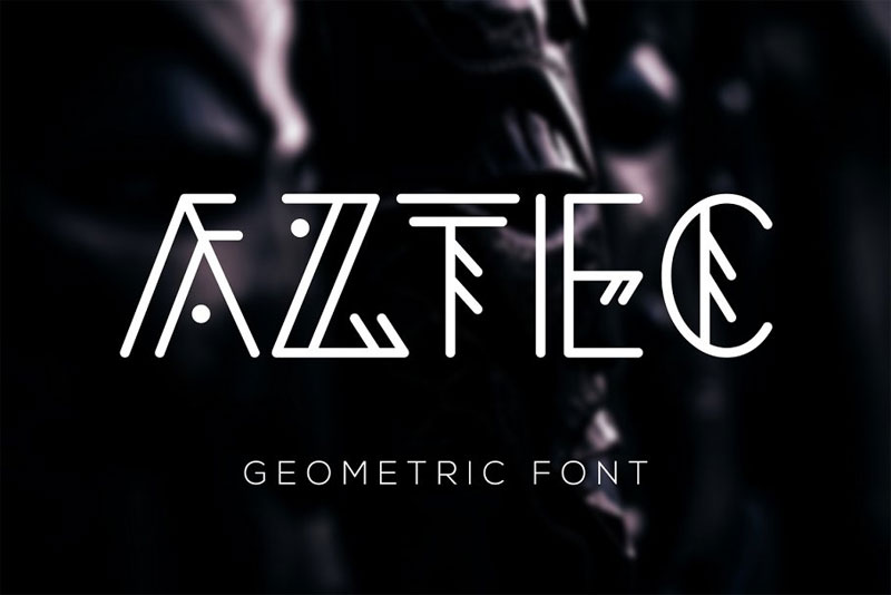 aztec geometric tribal font