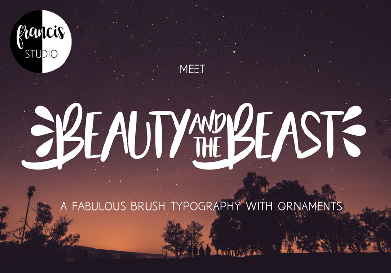 beauty and the beast summer and beach font